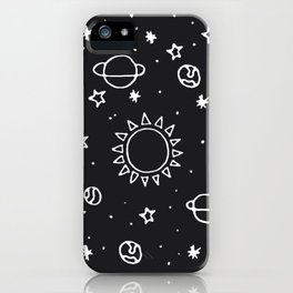 Planets Hand Drawn iPhone Case
