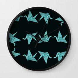 blue japanese origami Wall Clock