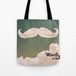 Mustache In the Cloud Tote Bag