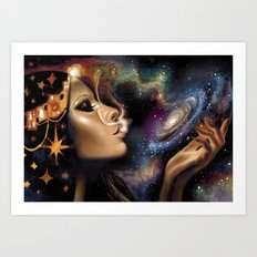 Galaxy Witch Art Print