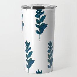 BG2 - blue plant pattern Travel Mug