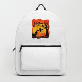 Happy Halloween Cemetery Backpack