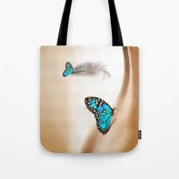 shining Tote Bags featuring Shining Life by Just Kidding