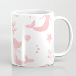 cute watercolor pattern with mermaid and summer sea life elements Coffee Mug