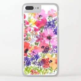 Summer's Country Garden Clear iPhone Case