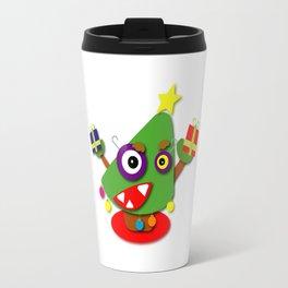 Kawaii Cartoon Christmas Tree Travel Mug