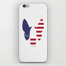 Boston Terrier: American Flag. iPhone & iPod Skin