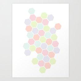 Pastel Buzz Art Print