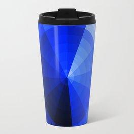 Monochromatic Blue Sphere Travel Mug