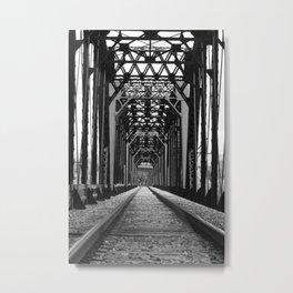 Get Off the Tracks Metal Print