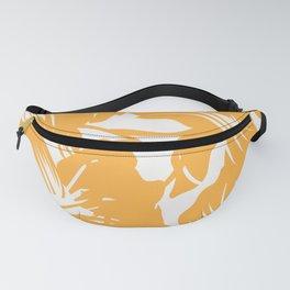 Orange Flower Pattern Fanny Pack