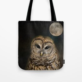 Barred Owl and the Moon Tote Bag