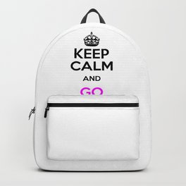 Climate Environment Keep Calm Go Green Backpack