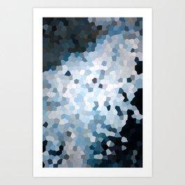 Darkness Meets Light Geometric Art Print