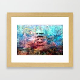 Challenging Fear Rumi Uplifting Quote With Beautiful Underwater Painting Framed Art Print