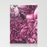 peonies Stationery Cards featuring Peonies by Jada Fitch