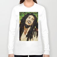marley Long Sleeve T-shirts featuring Marley Collage by Emily Harris