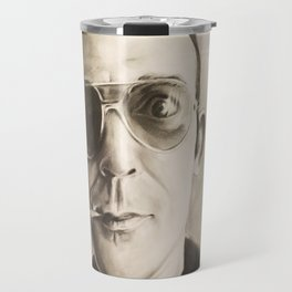 Hunter S. Thompson Portrait in Charcoal Travel Mug