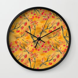 Autumn leaves #12 Wall Clock