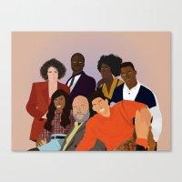 fresh prince Canvas Prints featuring The Fresh Prince by Jara Montez