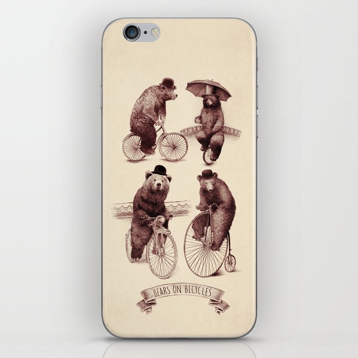 Bears on Bicycles iPhone Skin