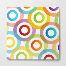 Colorful circles in vibrant colors Metal Print