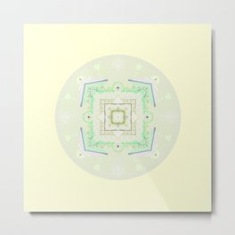 baby art, baby mandala, pastel colors, sweet baby, birth theme, art naif Metal Print