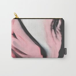 Modern pink marble and black Carry-All Pouch
