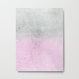 FADING CONCRETE PINK Metal Print