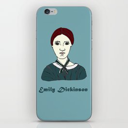 Emily Dickinson, hand-drawn portrait iPhone Skin
