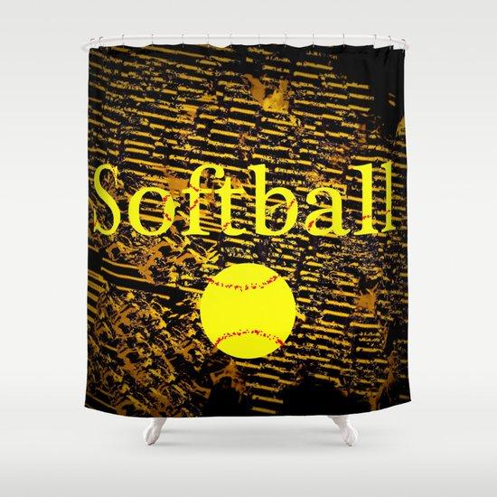 Softball Shower Curtain By Jessielee72