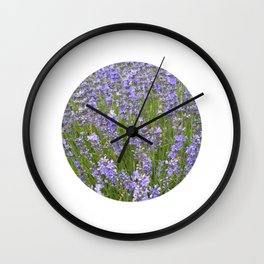 french lavender field IIX Wall Clock