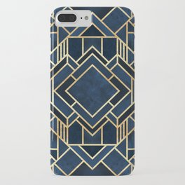 Art Deco Fancy Blue iPhone Case
