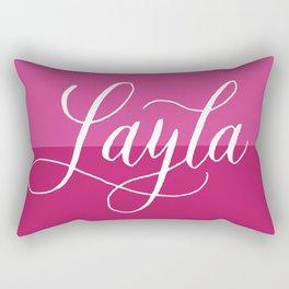 Layla - Modern Calligraphy Name Design Rectangular Pillow