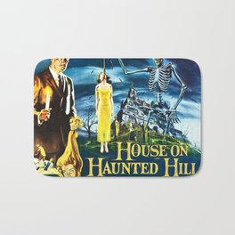 House on Haunted Hill, vintage horror movie poster Bath Mat