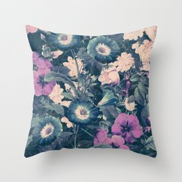 Floral Nights Space Dreams Throw Pillow