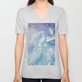 Celestial Guardian Angel Periwinkle Blue Unisex V-Neck
