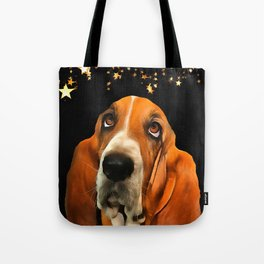 A Basset Hound. (Painting.) Tote Bag