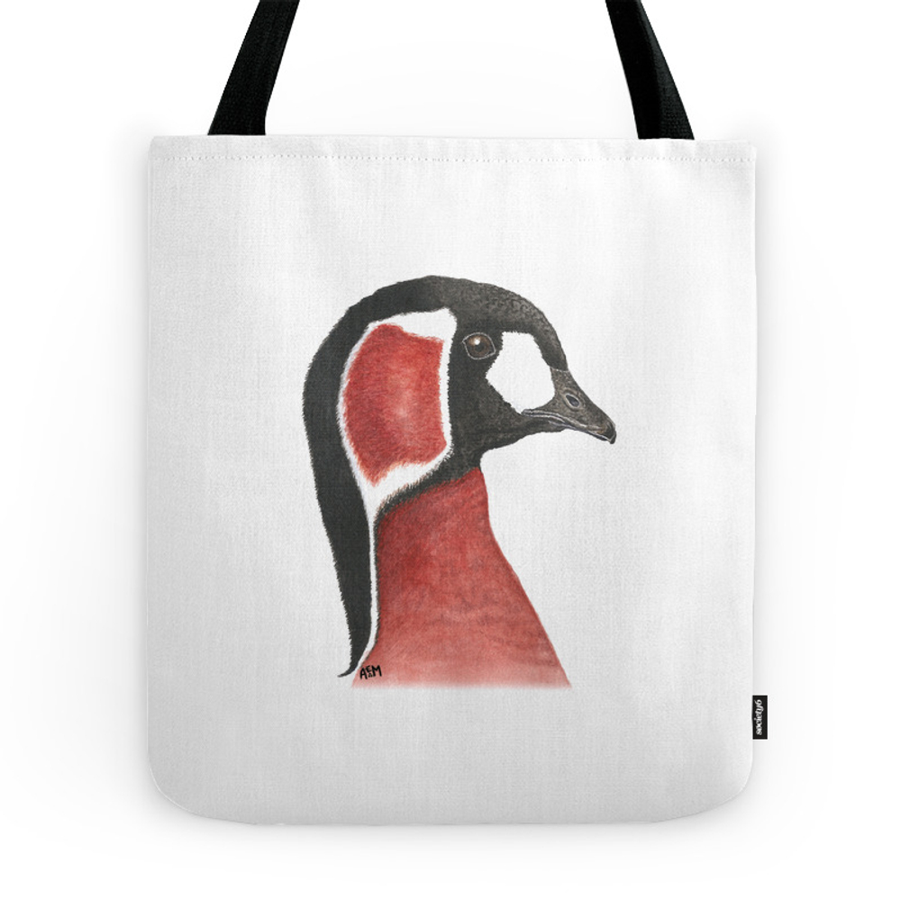 Red-Breasted Goose Tote Bag by sashaparula (TBG9962887) photo