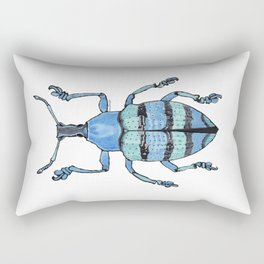 Upholstered Blue Weevil Rectangular Pillow