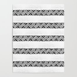 Stripes of antique rustic lace Poster