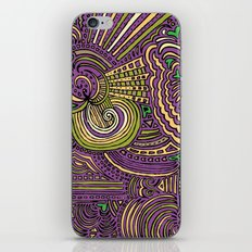 Drawing Meditation - Lilac iPhone & iPod Skin
