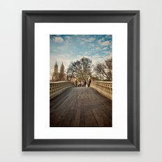 Central Park Crossing Framed Art Print