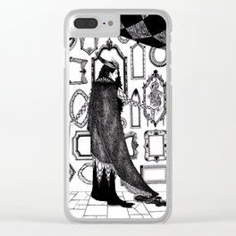 Ash Pale / Snow White Clear iPhone Case