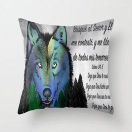 Lobo - Salmo 34, 5 Throw Pillow