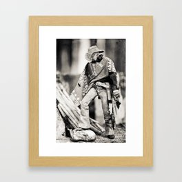 The Blind Cowboy • 8 Framed Art Print