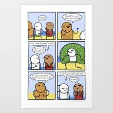 Antics #261 - scare tactics Art Print