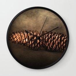 Fallen - Pine Cones Wall Clock