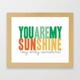 {sunshine-green} Framed Art Print