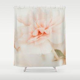 Burnt Orange Peony Shower Curtain